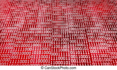 """binary code "" - ""binary code screen listing table on Red..."