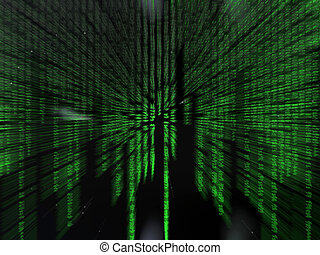 Binary code. - Binary code, the internet, data transfer, a...