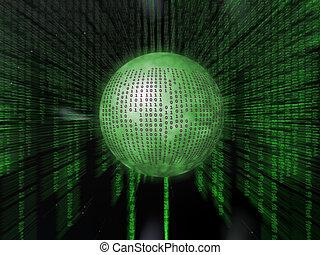 Binary code. - Binary code, the internet, data transfer, a...