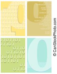Binary code motifs on a background set.