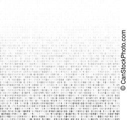 Binary code - Gradient fall off binary code screen listing...