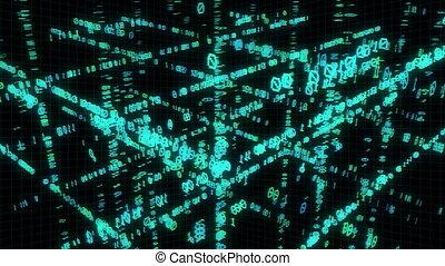 Binary code in matrix cube