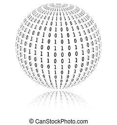 Binary code in sphere form