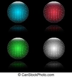Binary code in sphere form