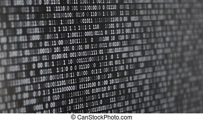 Binary Code Screen - Twinkle comptuer data code screen...