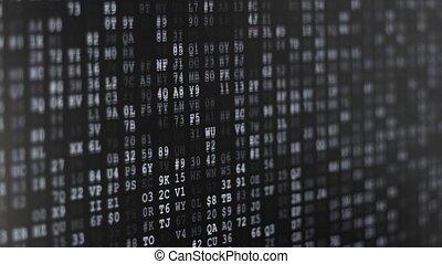Binary Code Screen - Twinkle computer data code screen...