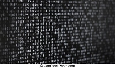 Binary Code Screen - Twinkle computer data code screen...