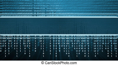 Binary code, technology background