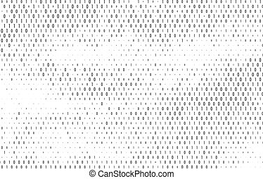 Binary Code Vector Background