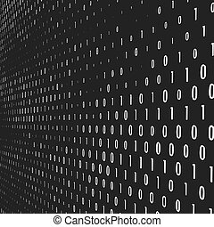Binary code vector background. Coding, programming or...