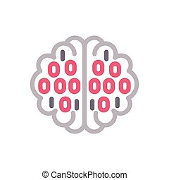 binary  color line icon