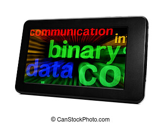 Binary data on pc tablet