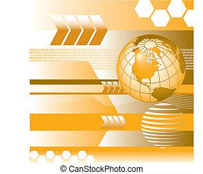 binary, digital vector globe
