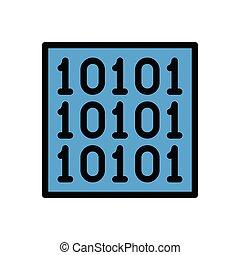 binary flat color icon