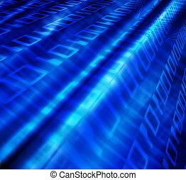 Binary flow - Binary code abstract