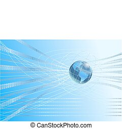 binary globe background - A dynamic 3d world map background ...