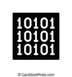 binary glyph flat icon
