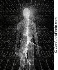 Binary Man Abstract