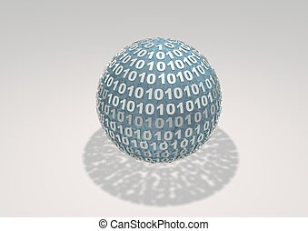 Binary Sphere on white background