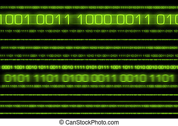 Binary matrix with motion effect.