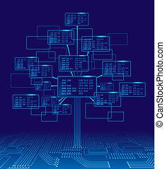 Binary tree - Tree consisting of blocks with binary codes. ...