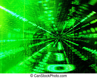 Binary tunnel - Binary code abstract