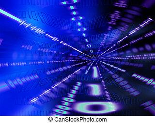 Binary tunnel - Abstract binary code