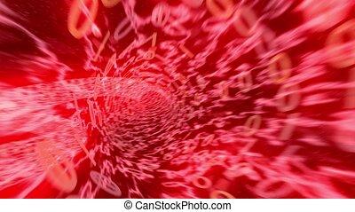 Binary tunnel wormhole flight through space warp speed dimension