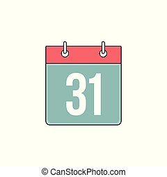 Bind Calendar Vector Outline Icon Illustration