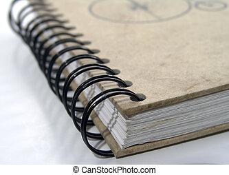 bindemedel, anteckningsbok