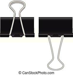 Binder clip on a white background. Vector illustration.