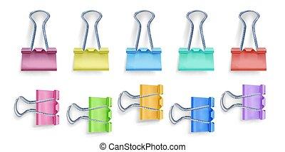 Binder clip vector illustration