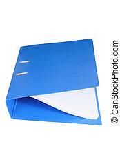 Binder Folder on White Background