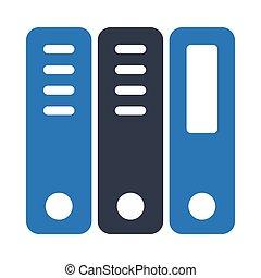 binder glyph color icon