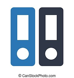binder glyph colour vector icon