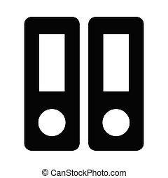 binder glyph flat vector icon