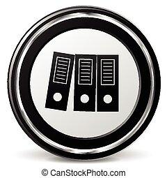 binder icon with metal ring - illustration of binder icon...