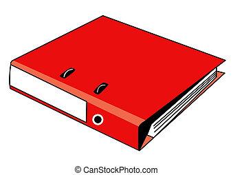 binder red new  - illustration  binder red new on white