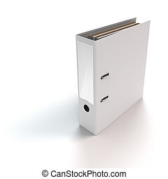 binder standing on white background - rendered file or ring...