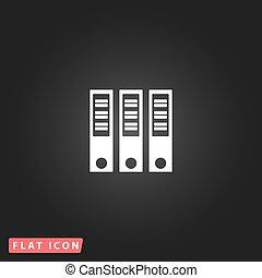 Binders flat icon
