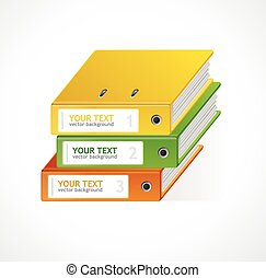 Binders Vector 123 infographics template for your text