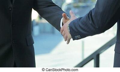 Binding agreement with a handshake