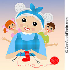 binds, 祖母, ソックス, 陽気