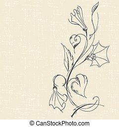 bindweed - hand drawn floral background with bindweed....