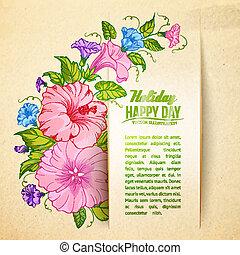 bindweed, flor, paper.