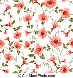 Bindweed , floral background, seamless pattern. Vector...