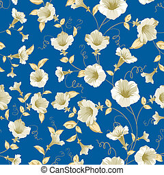 Bindweed samless pattern. - Bindweed samless pattern for...