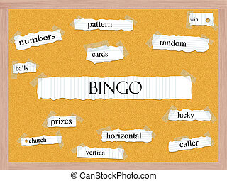 bingó,  corkboard, fogalom, Szó