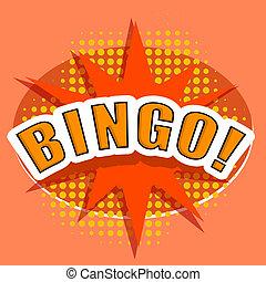 bingo., イラスト, ベクトル, デザイン, 漫画, element.