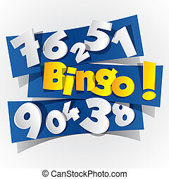 bingo, abstrakt, symbol, kreativ